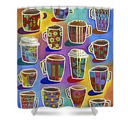 Lots Of Lattes Shower Curtain by Carla Bank