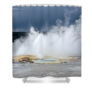 Lots Of Steam Shower Curtain