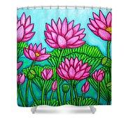 Lotus Bliss II Shower Curtain