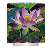 Lotus Bloom Shower Curtain