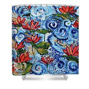 Lotus Cloud Sea 201759 Shower Curtain