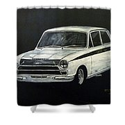 Lotus Cortina Shower Curtain
