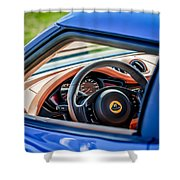 Lotus Evora S Steering Wheel -1858c Shower Curtain