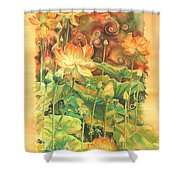 Lotus Field Shower Curtain