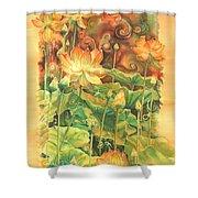 Lotus Field Shower Curtain