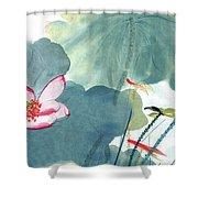Lotus Figure Shower Curtain