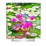 Lotus Flower 3 Shower Curtain