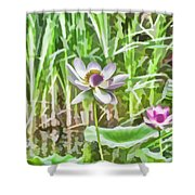 Lotus Flower On The Water Shower Curtain