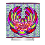 Lotus Flower Stunning Colors Abstract  Artistic Presentation By Navinjoshi Shower Curtain