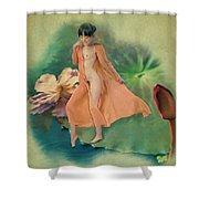 Lotus Maiden Shower Curtain