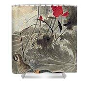 Lotus Mandarin Duck Shower Curtain