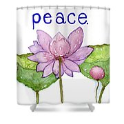 Lotus Of Peace Shower Curtain