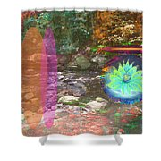 Lotus Of The Creek Shower Curtain