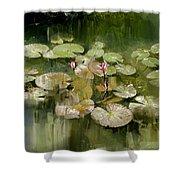 Lotus Pond 1 Shower Curtain