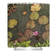 Lotus Pond Shower Curtain