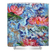 Lotus Sky River 201758 Shower Curtain