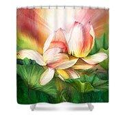 Lotus - Spirit Of Life Shower Curtain