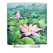 Lotus_01 Shower Curtain