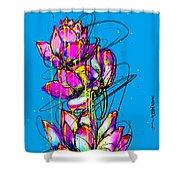 Lotuses  Shower Curtain