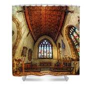 Loughborough Church - Altar Vertorama Shower Curtain