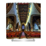 Loughborough Church - Nave Vertorama Shower Curtain