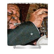 Louis Amstrong Shower Curtain