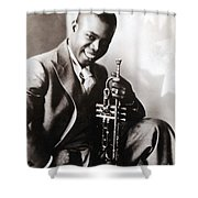Louis Armstrong, American Jazz Musician Shower Curtain