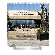 Louis Armstrong Bronze - Mahalla Jackson Theater - New Orleans Shower Curtain