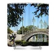 Louis Armstrong Park - New Orleans Shower Curtain