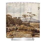 Louis Buvelot , At Ballan, 1876 Shower Curtain