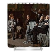 Louis Charles Moeller - The Dubious Tale Shower Curtain