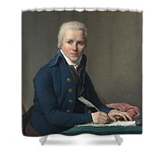 Louis David   Portrait Of Jacobus Blauw Shower Curtain