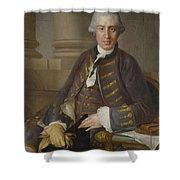 Louis-gabriel Blanchet Paris 1705 - 1772   Portrait Of A Gentleman Shower Curtain