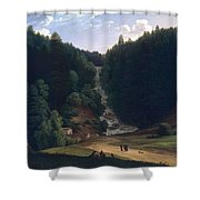 Louis Gauffier  View Of Falls At Vallombrosa Shower Curtain