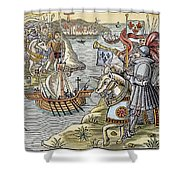 Louis Ix: Disembarking Shower Curtain