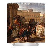 Louis Lafitte - Brutus Listening To The Ambassadors From The Tarquins Shower Curtain