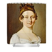 Louis-leopold Boilly - Portrait Of A Lady Shower Curtain
