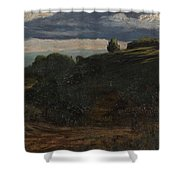 Louis Michel Eilshemius American 1864-1941 Summer Twilight, 1884 Shower Curtain