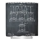 Louis Pasteur Brewing Beer And Ale Patent 1873 Chalk Shower Curtain