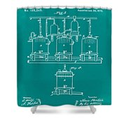 Louis Pasteur Brewing Beer And Ale Patent 1873 Green Shower Curtain