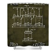 Louis Pasteur Brewing Beer And Ale Patent 1873  Grunge Shower Curtain