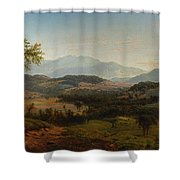 Louis Remy Mignot 1831-1870, Fishkill Mountains Shower Curtain