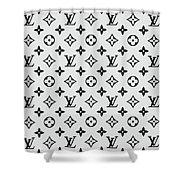 Louis Vuitton Pattern Lv 07 Grey Shower Curtain