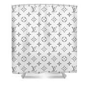Louis Vuitton Pattern - Lv Pattern 14 - Fashion And Lifestyle Shower Curtain