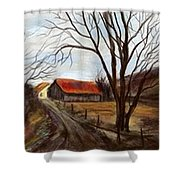 Louisa Kentucky Barn Shower Curtain