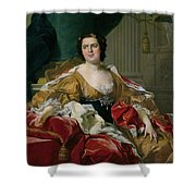 Louise-elisabeth Of France, Wife Of The Infante Philip, Future Duke Of Parma Shower Curtain