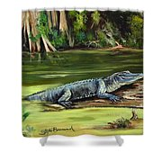 Louisiana Gator Shower Curtain