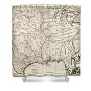 Map Of Louisiana And Of The River Mississippi Shower Curtain