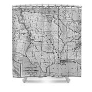 Louisiana Purchase Map Shower Curtain