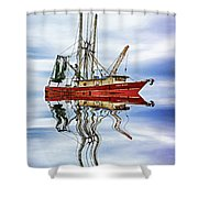 Louisiana Shrimp Boat 4 - Paint Shower Curtain